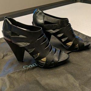 Franco Sarto black open toe shoes